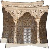 Safavieh Novara 2-piece 18'' x 18'' Throw Pillow Set