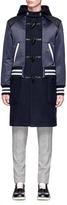 Coach Bomber jacket overlay wool coat