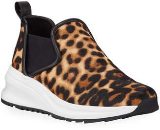 Taryn Rose Zayda Leopard-Printed Athleisure Sneakers