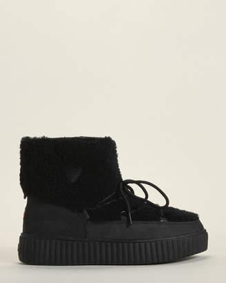 Pajar Black Ceria Shearling Waterproof Boots