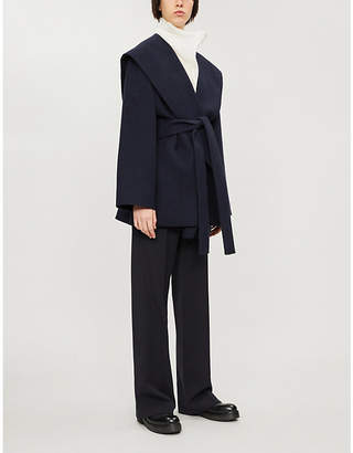 The Row Reyna belted cotton and wool-blend jacket