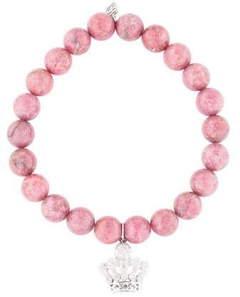 Sydney Evan 14K Diamond & Rhodonite Bead Bracelet