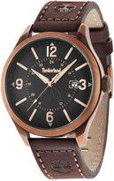 Timberland Men's Blake Brown Leather Strap Watch 46x54mm TBL14645JSQR02