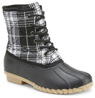 OLIVIA MILLER Very Well Plaid Duck Boot