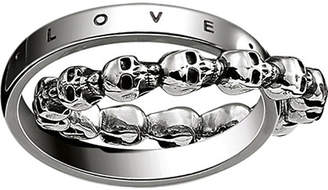 Thomas Sabo Rebel at heart skull and love sterling silver ring