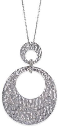 Genevive Silver Pendant Necklace