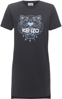 Kenzo Classic Tiger Cotton T-shirt Dress