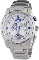 Edifice Men's Quartz Watch with Dial Analogue Display and Silver Stainless Steel Bracelet EFR-523D-7AVEF