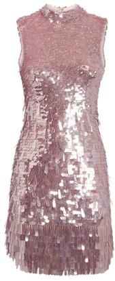 Rachel Gilbert Embellished Max Mini Dress