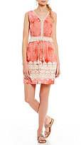 Chelsea & Violet Embroidered Tie Dye Dress