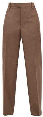 Bottega Veneta High-rise Wool Wide-leg Trousers - Light Brown