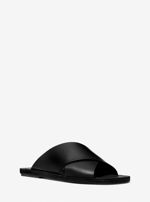 Michael Kors Collection Ruth Leather Slide Sandal