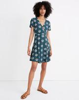 Madewell Button-Wrap Dress in Daisy Daydream