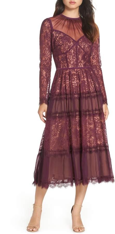 Tadashi Shoji Embroidered Lace Dress