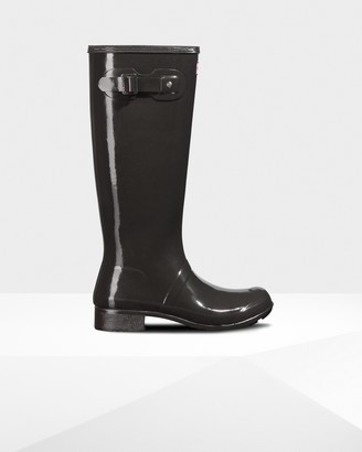 Hunter Women's Original Tour Foldable Tall Gloss Wellington Boots