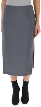 Prada Side Slit Midi Skirt