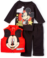 Children's Apparel Network Mickey Mouse Red Vest Set - Infant