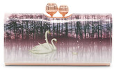 Ted Baker Swanee Sparkling Swan Printed Leather Matinee Wallet