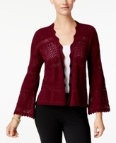 Style&Co. Style & Co Style & Co Petite Cotton Pointelle Open-Front Cardigan, Created for Macy's