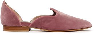 Le Monde Beryl Blush Pink Velvet D Orsay Venetian Slipper