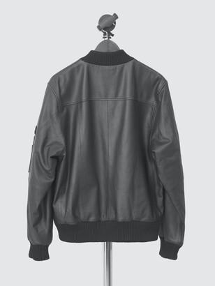 Deadwood Women's Combo Original Leather Bomber Jacket