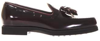 Tod's Tods Brushed Leather Loafers With Tassel