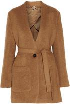 Helmut Lang Shaggy alpaca and wool-blend coat
