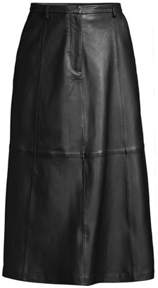 Seventy Leather Midi Skirt