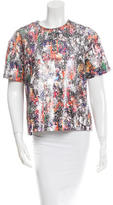 Opening Ceremony Short Sleeve Sequined Top w/ Tags