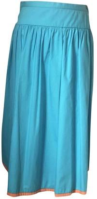 Valentino Turquoise Cotton Skirt for Women Vintage