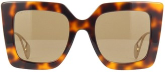 Gucci Gg0435s Havana Sunglasses