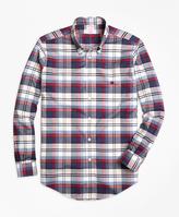 Brooks Brothers Non-Iron Regent Fit Heathered Plaid Sport Shirt