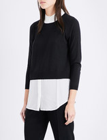 Claudie Pierlot Marylou knitted and chiffon top