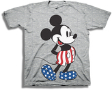Freeze Mickey Heather Gray Americana Tee - Toddler