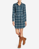 Eddie Bauer Women's Expedition Flex Flannel Shirt Dress