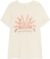 The Great The Palm Printed Cotton-jersey T-shirt - White