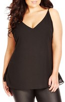 City Chic Plus Size Women's Double Layer V-Neck Camisole Top