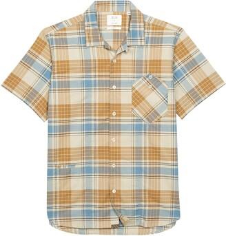 Billy Reid Scout Regular Fit Plaid Short Sleeve Button-Up Camp Shirt