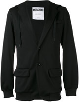 Moschino hooded logo blazer - men - Cotton/Polyester - M