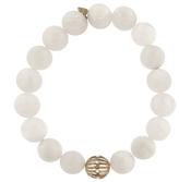 Sydney Evan Diamond Wire Ball with White Moonstone Beaded Bracelet