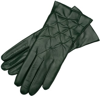 1861 Glove Manufactory Firenze - Women's Olive Green Nappa Leather Gloves