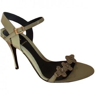 Fendi Grey Patent leather Sandals