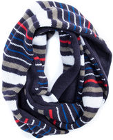 Muk Luks Striped Reversible Eternity Scarf