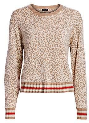 Splendid Women's Knit Leopard Pullover