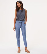 LOFT Petite Belted Relaxed Ankle Pants