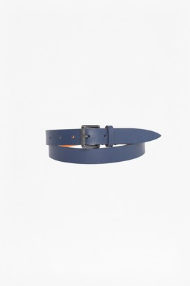 French Connenction Reversible Saffiano Leather Belt