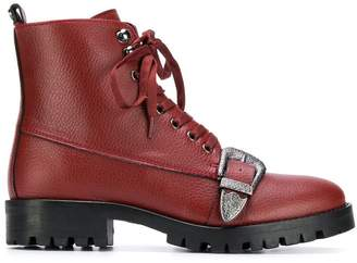 Trussardi Jeans buckled ankle boots