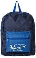 Original Penguin Blue Branded Backpack