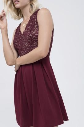 Blu Pepper Lace Bodice Flare Dress