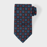 Paul Smith Men's Navy 'Diamond Floral' Motif Silk Tie